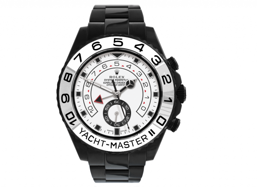 Limited Edition Fake Rolex Yacht-Master II 116680 Black Venom