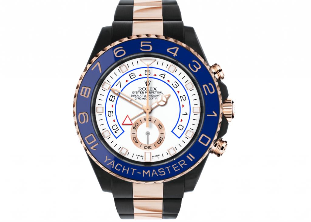 Limited Edition Rolex Fake Yacht-Master II 116680 Black Venom